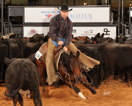 Dr. Kenton H. Arnold Shows Justa Lena, coming in 4th in the 2010 AQHA Amateur World Show